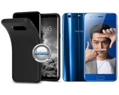 B-matte dėklas nugarėlė Huawei Honor 9 mobiliesiems telefonams juodos spalvos