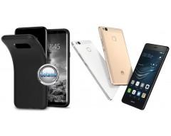 B-matte dėklas nugarėlė Huawei P9 Lite mobiliesiems telefonams juodos spalvos
