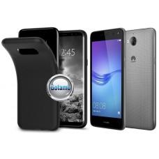 B-matte dėklas nugarėlė Huawei Y5 (2017) Huawei Y6 (2017) mobiliesiems telefonams juodos spalvos