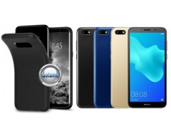 B-matte dėklas nugarėlė Huawei Y5 (2018) Huawei Honor 7S mobiliesiems telefonams juodos spalvos
