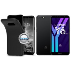 B-matte dėklas nugarėlė Huawei Y6 (2018) Huawei Honor 7A mobiliesiems telefonams juodos spalvos