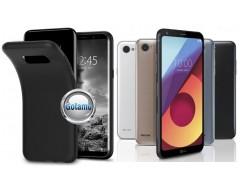 B-matte dėklas nugarėlė LG Q6 mobiliesiems telefonams juodos spalvos