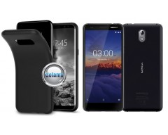 B-matte dėklas nugarėlė Nokia 3.1 mobiliesiems telefonams juodos spalvos