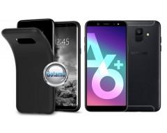 B-matte dėklas nugarėlė Samsung Galaxy A6+ (2018) mobiliesiems telefonams juodos spalvos