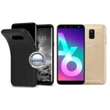 B-matte dėklas nugarėlė Samsung Galaxy A6 (2018) mobiliesiems telefonams juodos spalvos