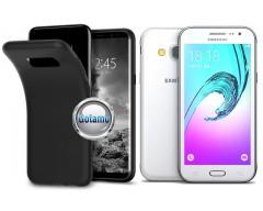B-matte dėklas nugarėlė Samsung Galaxy J3 (2016) mobiliesiems telefonams juodos spalvos
