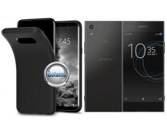B-matte dėklas nugarėlė Sony Xperia XA1 mobiliesiems telefonams juodos spalvos