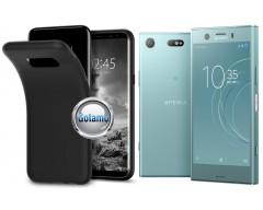 B-matte dėklas nugarėlė Sony Xperia XZ1 Compact mobiliesiems telefonams juodos spalvos