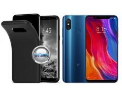 B-matte dėklas nugarėlė Xiaomi Mi 8, Xiaomi Mi 8 Pro mobiliesiems telefonams juodos spalvos
