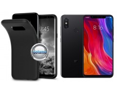 B-matte dėklas nugarėlė Xiaomi Mi Mix 2S mobiliesiems telefonams juodos spalvos