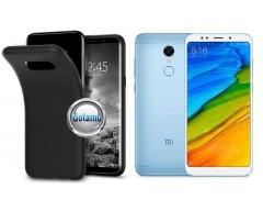 B-matte dėklas nugarėlė Xiaomi Redmi 5 mobiliesiems telefonams juodos spalvos