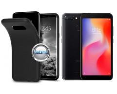 B-matte dėklas nugarėlė Xiaomi Redmi 6 6A mobiliesiems telefonams juodos spalvos