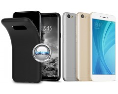 B-matte dėklas nugarėlė Xiaomi Redmi Note 5A mobiliesiems telefonams juodos spalvos