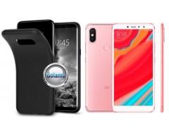 B-matte dėklas nugarėlė Xiaomi Redmi S2 mobiliesiems telefonams juodos spalvos