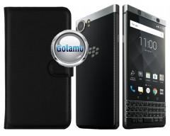 Diary Mate dėklas BlackBerry KEYone mobiliesiems telefonams juodos spalvos