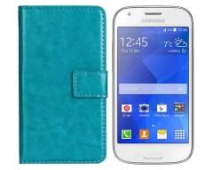 Diary Mate dėklas Samsung Galaxy Ace 4 mobiliesiems telefonams žydros spalvos