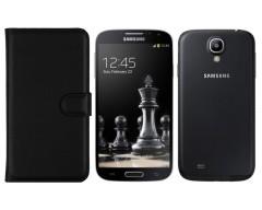 Diary Mate dėklas Samsung Galaxy S4 mini mobiliesiems telefonams juodos spalvos