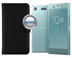 Diary Mate dėklas Sony Xperia XZ1 Compact telefonams juodos spalvos