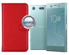 Diary Mate dėklas Sony Xperia XZ1 Compact telefonams raudonos spalvos