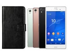 Diary Mate dėklas Sony Xperia Z3 mobiliesiems telefonams juodos spalvos