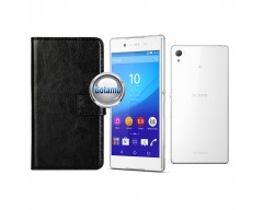 Diary Mate dėklas Sony Xperia Z3+ mobiliesiems telefonams juodos spalvos