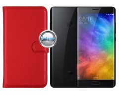 Diary Mate dėklas Xiaomi Mi Note 2 telefonams raudonos spalvos