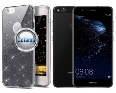 Elizee dėklas nugarėlė Huawei P10 Lite telefonams grafito spalvos