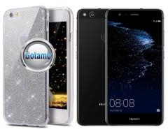Elizee dėklas nugarėlė Huawei P10 Lite telefonams sidabro spalvos