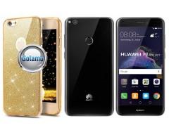 Elizee dėklas nugarėlė Huawei P9 Lite (2017) telefonams aukso spalvos