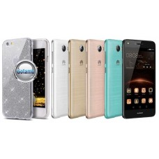 Elizee dėklas nugarėlė Huawei Y5II telefonams sidabro spalvos