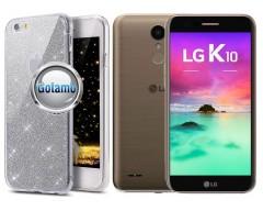 Elizee dėklas nugarėlė LG K10 (2017) telefonams sidabro spalvos