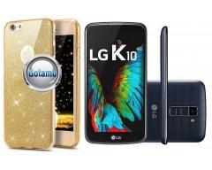 Elizee dėklas nugarėlė LG K10 telefonams aukso spalvos