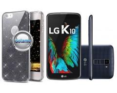 Elizee dėklas nugarėlė LG K10 telefonams grafito spalvos