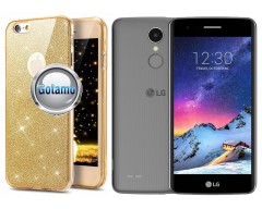 Elizee dėklas nugarėlė LG K8 (2017) telefonams aukso spalvos
