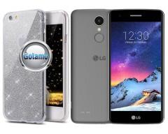 Elizee dėklas nugarėlė LG K8 (2017) telefonams sidabro spalvos