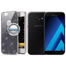 Elizee dėklas nugarėlė Samsung Galaxy A3 (2017) telefonams grafito spalvos