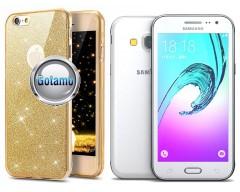 Elizee dėklas nugarėlė Samsung Galaxy J3 (2016) telefonams aukso spalvos