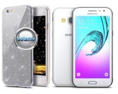 Elizee dėklas nugarėlė Samsung Galaxy J3 (2016) telefonams sidabro spalvos
