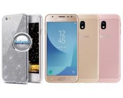 Elizee dėklas nugarėlė Samsung Galaxy J3 (2017) telefonams sidabro spalvos
