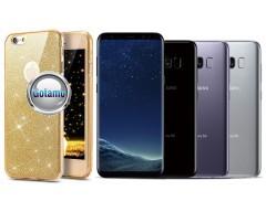 Elizee dėklas nugarėlė Samsung Galaxy S8 telefonams aukso spalvos