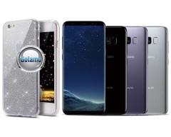 Elizee dėklas nugarėlė Samsung Galaxy S8 telefonams sidabro spalvos