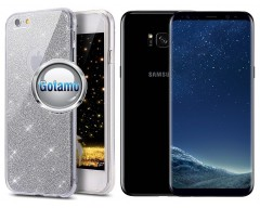 Elizee dėklas nugarėlė Samsung Galaxy S8+ telefonams sidabro spalvos