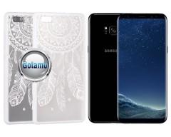 Engrave Feather dėklas nugarėlė Samsung Galaxy S8+ telefonams baltos spalvos