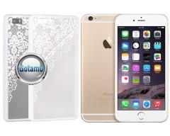 Engrave Garter dėklas nugarėlė Apple iPhone 6 6s telefonams baltos spalvos