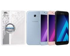 Engrave Garter dėklas nugarėlė Samsung Galaxy A5 (2017) telefonams baltos spalvos