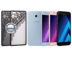 Engrave Garter dėklas nugarėlė Samsung Galaxy A5 (2017) telefonams juodos spalvos