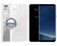 Engrave Garter dėklas nugarėlė Samsung Galaxy S8+ telefonams baltos spalvos