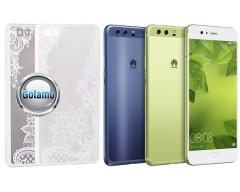 Engrave Lotus dėklas nugarėlė Huawei P10 telefonams baltos spalvos