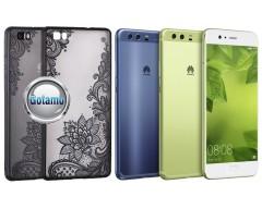 Engrave Lotus dėklas nugarėlė Huawei P10 telefonams juodos spalvos