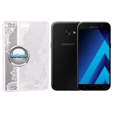 Engrave Lotus dėklas nugarėlė Samsung Galaxy A3 (2017) telefonams baltos spalvos